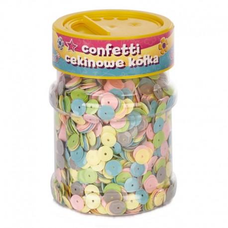 """Confetti cekinowe """"Pastelowe kółka"""" Astra Creativo 100 g"""