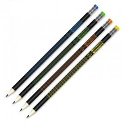 Ołówek trójkątny z gumką Penmate