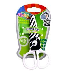 """Colorino nożyczki plastikowe """"Zebra"""" 12,5 cm"""