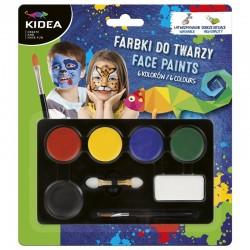 Farby do malowania twarzy 6 Kidea