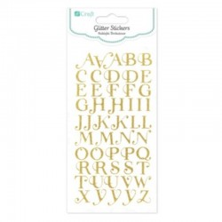 "Naklejki brokatowe ""Alfabet"" DP Craft DPNB-098"