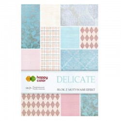 "Happy Color blok z motywam ""Delicate"" A-4"