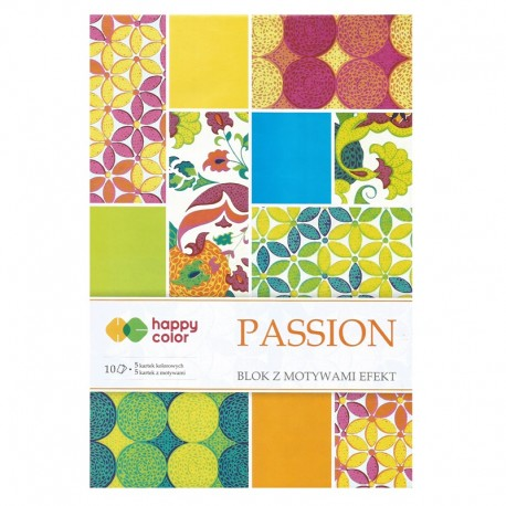 "Happy Color blok z motywam ""Passion"" A-4"