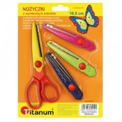 Nożyczki dekoracyjne z wymiennymi ostrzami Titanum 36787
