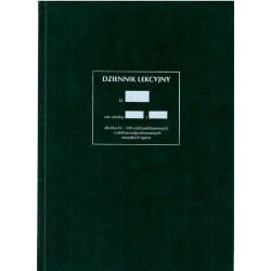 """Dziennik lekcyjny """"Klasy IV-VIII szkół podstawowych i szkół ponadpodstawowych wszystkich typów"""" A-4"""
