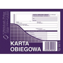 503-5 Karta obiegowa M&P