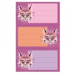 """Naklejki na zeszyty """"Wild Animal Lynx"""" Herlitz"""