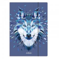 """Teczka z gumką A-4 """"Wild Animals Wolf"""" Herlitz"""