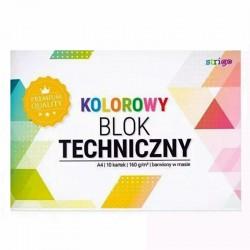 Blok techniczny kolorowy A-4/10k Strigo SPA-031