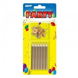 Świeczki urodzinowe złote MFP 8800065