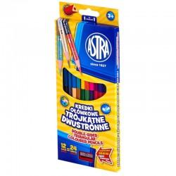 Astra kredki ołówkowe dwustronne 12