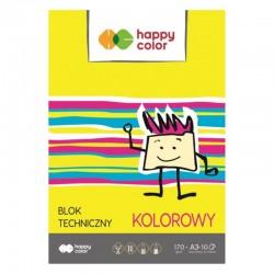 Blok techniczny kolorowy A-3/10 Happy Color