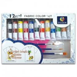 """Farby do tkanin """"Fabric Color Set"""" Dozen"""