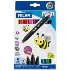 """Milan """"Maxi Bicolor"""" flamastry dwukolorowe 8"""