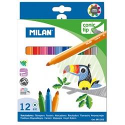 "Milan ""Conic Tip"" flamastry stożkowe 12"