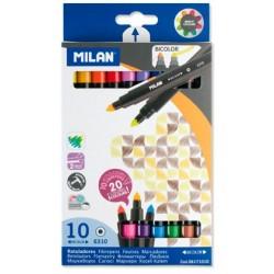 """Milan """"Bicolor"""" flamastry dwukolorowe 10"""