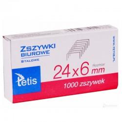 Zszywki 24/6 Tetis GZ-101-A