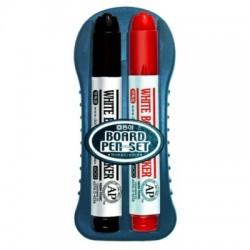 Dong-A zestaw markerów suchościeralnych do tablic czarno-czerwony