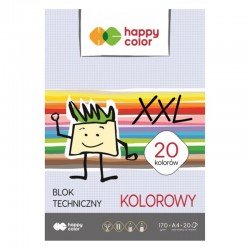Blok techniczny kolorowy XXL A-4/20 Happy Color