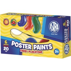 Farby plakatowe Astra 6x20 ml