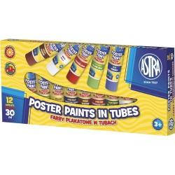 Farby plakatowe w tubkach Astra 12x30 ml
