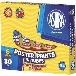 Astra farby plakatowe w tubkach 6x30 ml