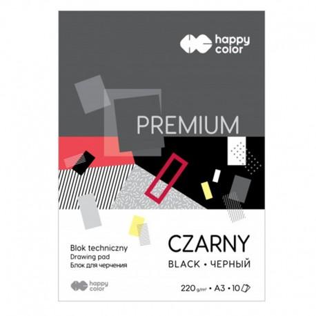 "Blok techniczny czarny ""Premium"" A-3/10 Happy Color"