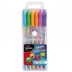 Długopisy żelowe zapachowe 6 Kidea