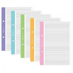 Wkład do segregatora z kolorowymi marginesami A-5