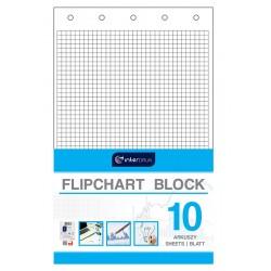 Blok do flipchartów kratka 10 Interdruk