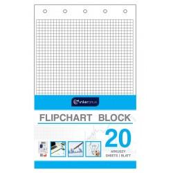 Blok do flipchartów kratka 20 Interdruk