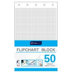Blok do flipchartów kratka 50 Interdruk
