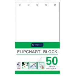 Blok do flipchartów gładki 50 Interdruk