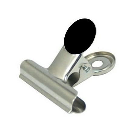 Srebrny klips biurowy 50 mm z magnesem