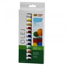 Farby olejne w tubkach 12x12 ml Happy Color