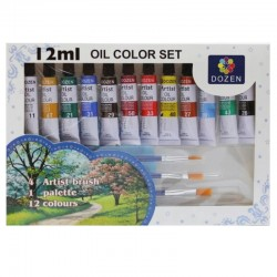 """Farby olejne """"Oil Color Set"""" Dozen"""