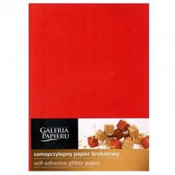 Papier brokatowy samoprzylepny czerwony A-4/10 Galeria Papieru
