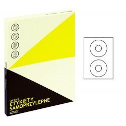 Grand etykiety samoprzylepne białe na płyty CD