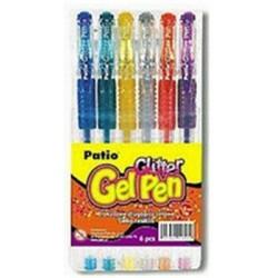 """Patio """"Glitter"""" długopisy żelowe brokatowe 6"""