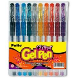 """Patio """"Glitter"""" długopisy żelowe brokatowe 10"""
