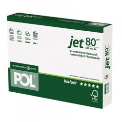 "Papier  ksero ""Pol-Jet"" A-4/500 80g"