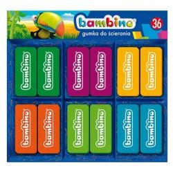 Bambino gumka szkolna kolorowa