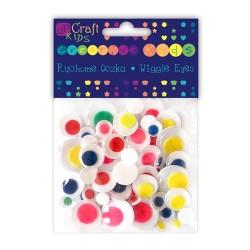 """DP Craft """"Ruchome oczka"""" KSOC-002 kolorowe mix 75 szt"""
