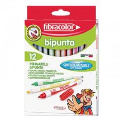 "Fibracolor ""Bipunta"" pisaki dwustronne 12"