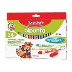 "Fibracolor ""Bipunta"" pisaki dwustronne 24"