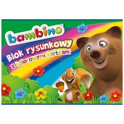 Bambino blok rysunkowy kolorowy A-4/16k