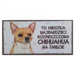 "Tabliczka z Twoim Pupilem ""Chihuahua"""